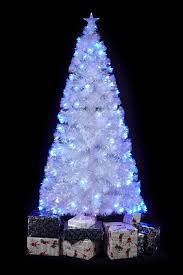 amazing white tree with blue lights 41 for apartment