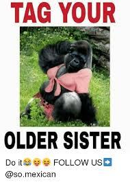 Sister Memes Funny - tag your older sister do it follow us meme on me me