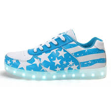 American Flag Shoes Led Shoes Women Blue Stars Low Top
