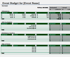 Event Budget Template Excel Project And Management Free Excel Templates From Activia