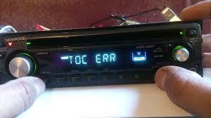 kenwood car stereo toc error youtube