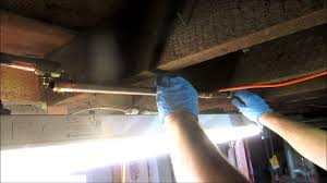 fix a leaking 1 2 copper water pipe in basement youtube