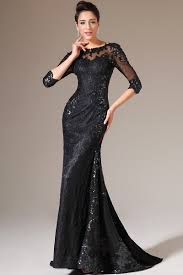 lace modest prom dresses with sleeves mermaid black dresses
