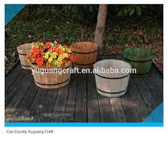 wooden barrel planter wooden barrel planter suppliers and
