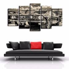 classic ford mustang 5 piece wall art canvas classic ford mustang 5 piece wall art canvas royal crown pro