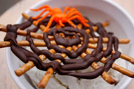 fast easy halloween spider web treat