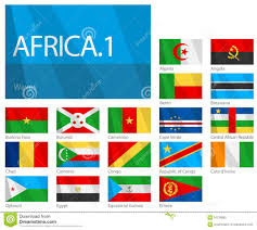 Flags Of African Countries Flags Of African Countries In Alphabetical Order Stock