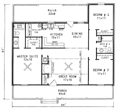 starter home plans plan 3435vl starter home with two covered porches bath house