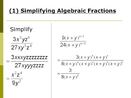 algebraic manipulation amendments to worksheet pg 3 example 2