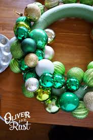 oliver and rust diy vintage ornament wreath