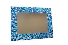 Mosaic Bathroom Mirror Blue Bathroom Mirror