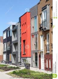 Row Homes by Modern Row Of Unique Dutch Homes In Leiden Royalty Free Stock