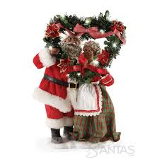 clothtique santa mistletoe kisses possible dreams mr and mrs santa claus 4057121