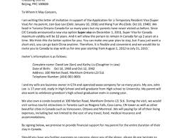 sample invitation letter for canadian visa canada visa help