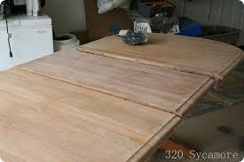 How To Stain A Table   Sycamore - Sanding kitchen table
