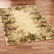 Green And Brown Area Rugs Floral Rugs Touch Of Class
