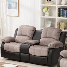 Microfiber Reclining Loveseat With Console Zipcode Design Anaheid Console Reclining Loveseat U0026 Reviews Wayfair