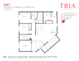 Den Floor Plan Floor Plans Archive Tria Apartments