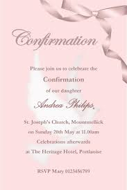 templates for confirmation invitations personalised confirmation invitations son design 2