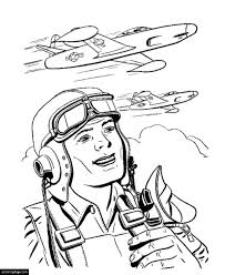 planes coloring pages happy memorial day pilot and bomber planes coloring page for kids