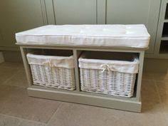 Bathroom Storage Box Seat Tobs Furniture White Storage Bench 3 Basket Drawers Beige Cushion