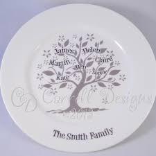personalised family tree plate 45 00 alyssa