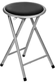 oypla black padded folding high chair breakfast kitchen amazon co