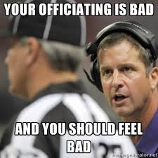 Bad Credit Meme - ray vs troy john harbaugh is not a fan of the replacement refs