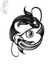 yin and yang koi fish by gaatng on deviantart