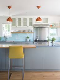 Blue Backsplash Kitchen Kitchens Design - Blue backsplash