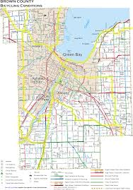 Racine Wisconsin Map by Wisconsin County Bicycle Maps
