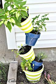 keep calm and decorate topsy turvy herb garden
