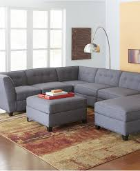 harper fabric 6 piece modular sectional sofa harper fabric 6 piece modular sectional with chaise created for