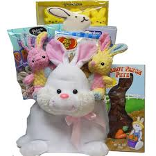 easter bunny gifts hippity hop plush easter bunny gift basket of adds