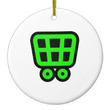 shopping cart icon gifts on zazzle