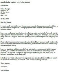 manufacturing engineering cover letter