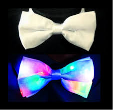 light up bow tie 2 in 1 white formal bowtie light up party tie little light lab