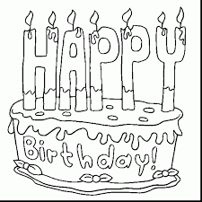 impressive birthday cake coloring pages preschool with birthday