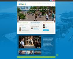 website homepage design halifax seaport halifax web design illustration u0026 graphic