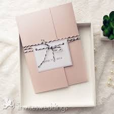 pocket invitation kits classic pink pocket wedding invitation kits with tags iwpi033