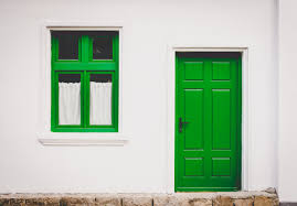 door house free images house window wall green entrance door closed
