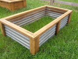 Corrugated Metal Planters by Raised Bed Garden Design Ideas Corrugated Metal Raised Garden Beds