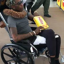 Wheelchair Meme - juice truther on twitter mood young thug in a wheelchair eating
