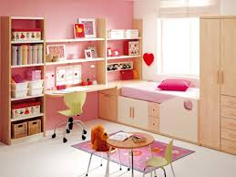 kids room study table designs in pink and white for small