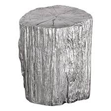 Silver Accent Table Silver Tree Stump Accent Table Pedestal