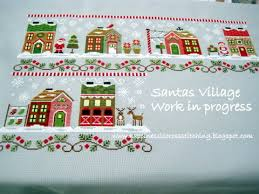 Country Cottage Needlework by Happiness Is Cross Stitching Another Santa U0027s Village Update And