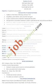 Cna Sample Resume Entry Level by Beautiful Objective On Resume For Cna Images Simple Resume