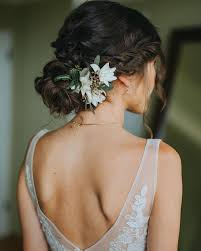 flower for hair wedding drop dead bridal hairstyle with fresh flower wearables