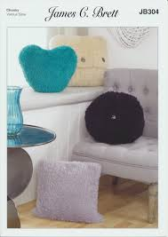 Knitted Cushion Cover Patterns Wildcat Chunky Knit Pattern Square Round Heart Cushion Covers