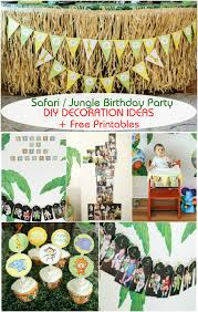 jungle themed 1st birthday party ideas home party ideas